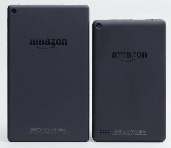 Fire HD 8と7型Fireタブレットの大きさの違い