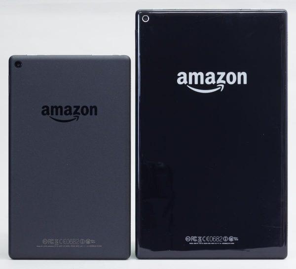 Fire HD 8と10.1型のFire HD 10の大きさの違い