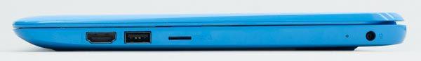 右側面にはHDMI、USB3.0、microSDメモリーカードスロットが用意されています
