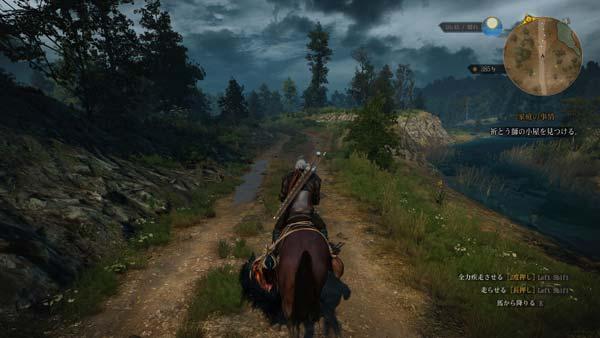 「Witcher 3: Wild Hunt」検証時のスクリーンショット
