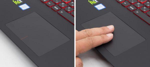 タッチパッドはマットなサラサラとした手触り。サイズは十分な大きさです ※クリックで拡大