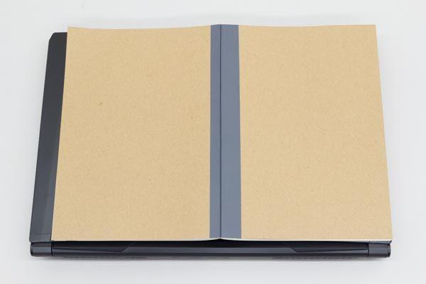 標準的なノートを見開きにした大きさが、B4サイズに相当します