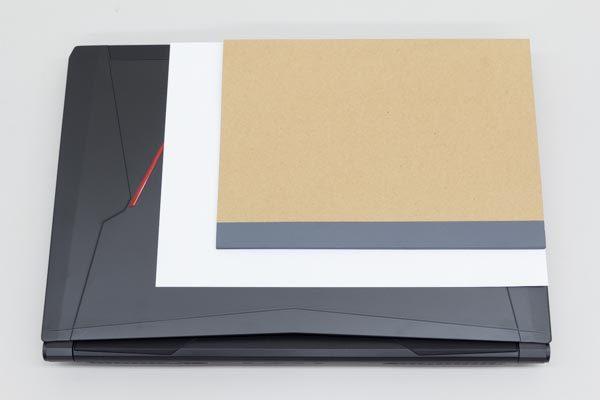 A4用紙とB5サイズノートとの大きさの違い