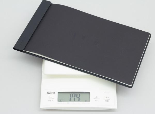 ちなみにBOOK Padの重量は実測で174g