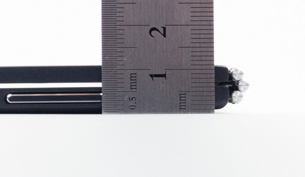 実測値は最厚部で11mmでした
