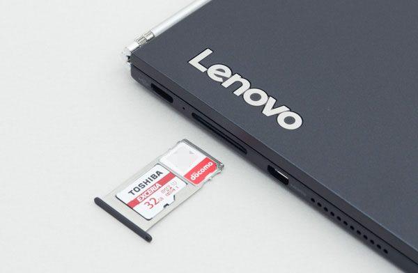 SIMカードスロットは、マイクロSDカードと兼用