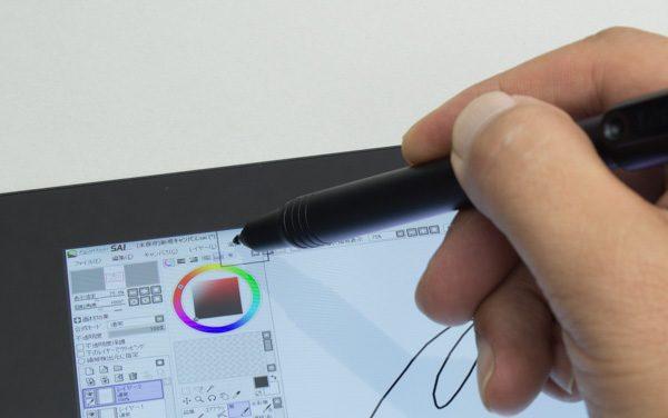 「ペイントツールSAI」ではなぜか、インターフェースをうまく操作できませんでした。ペンでタッチしても、メニューやボタンが動作しないのです