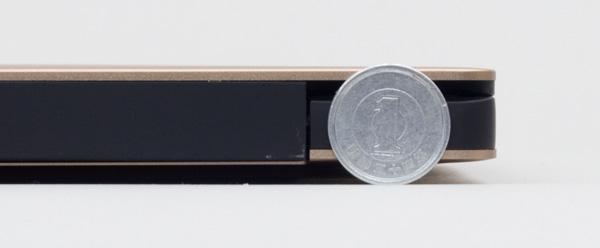 1円玉(直径20mm)よりも、ほんのわずかに低い程度