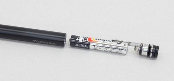 アクティブ静電ペンの電池