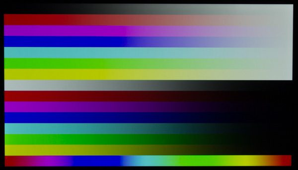 映像のコントラスト