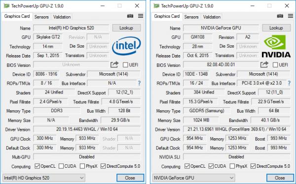 GPU-Zの詳細情報