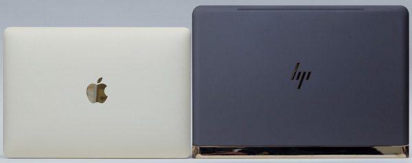 12インチMacBookとHP Spectre 13の大きさの違い