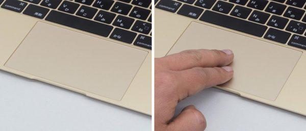 MacBookのタッチパッド