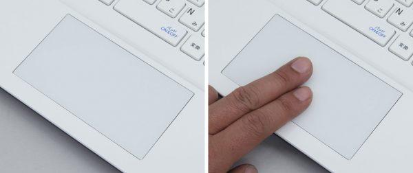 タッチパッドはボタン一体型