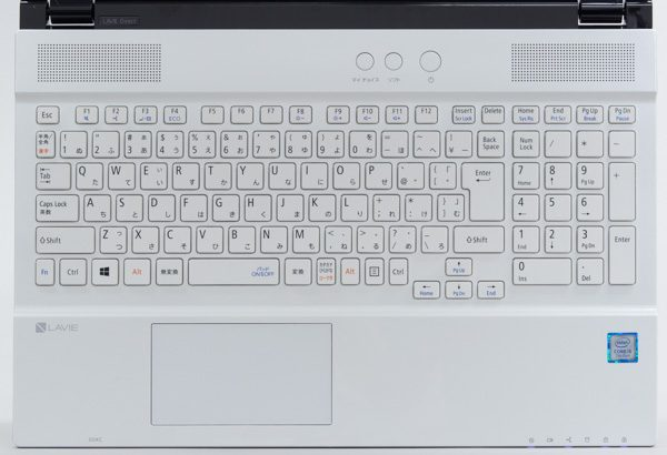 LAVIE Direct NS(S)のキーボード