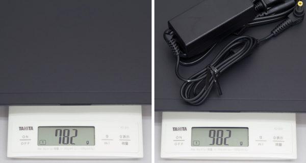 LIFEBOOK WU2/B1の重量