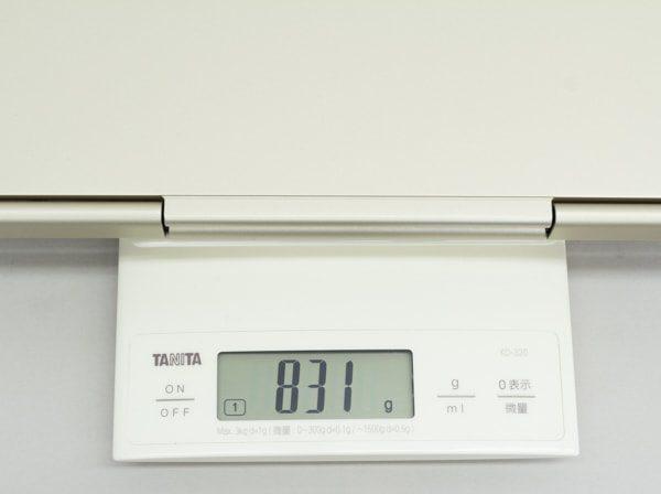 Core i7モデルの重量
