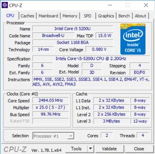 CPU-Zによる詳細情報