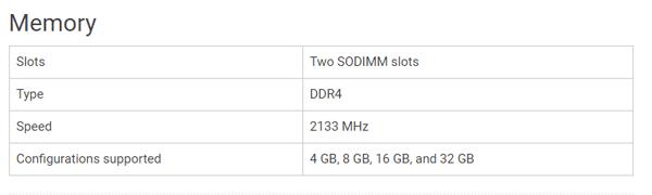 最大メモリー容量は32GB?