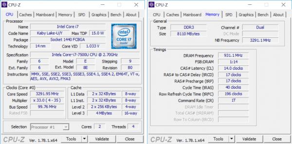 CPUとメモリーの詳細