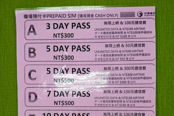 SIMカードの値段