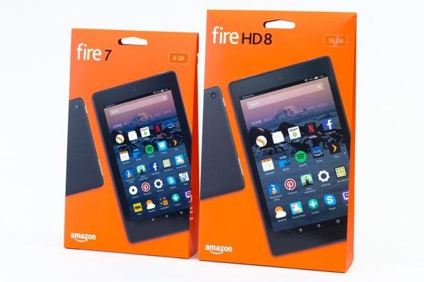 Fire HD 8とFire 7のパッケージ