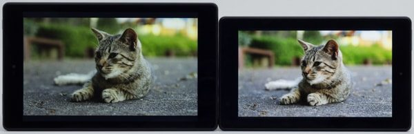 液晶ディスプレイの映像比較