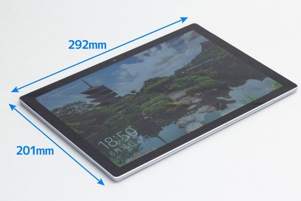 Surface Proの本体サイズ