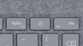 Surface Laptopの電源ボタン押し間違いを回避する方法