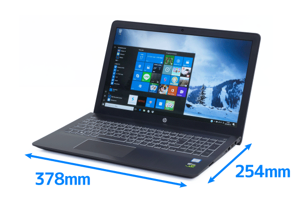 HP Pavilion Power 15のサイズ