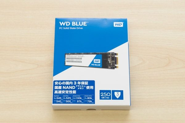 WD Blueのパッケージ