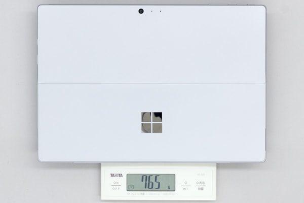 Core m3モデルの重量