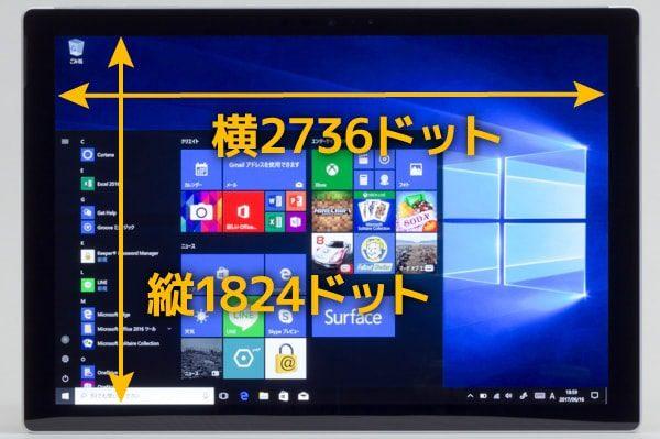 Surface Proの解像度