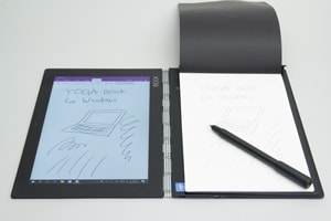 YOGA BOOK with Windowsのペン入力