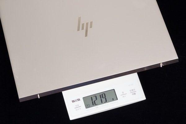 HP Envy 13の重量