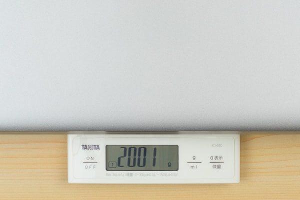 実際の重さ