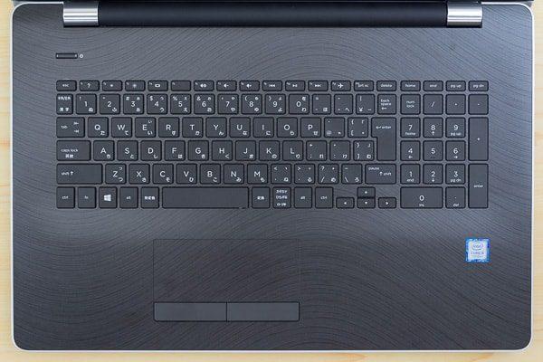 HP 17-bs000のキーボード