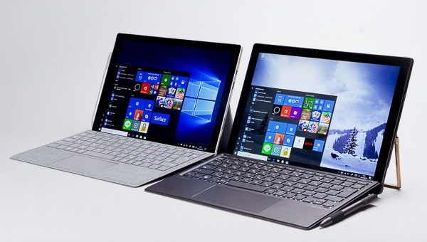 HP Spectre x2 Surface Pro 大きさの違い