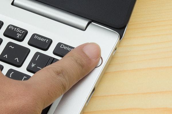 指紋認証の手順