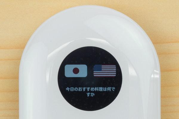 翻訳画面の文字サイズ