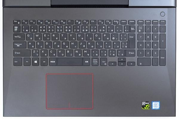 Inspiron 15 7000ゲーミングのキーボード