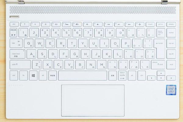 HP Spectre 13-af000のキーボード
