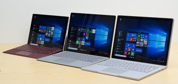 Surface ProやSurface Laptopとの比較