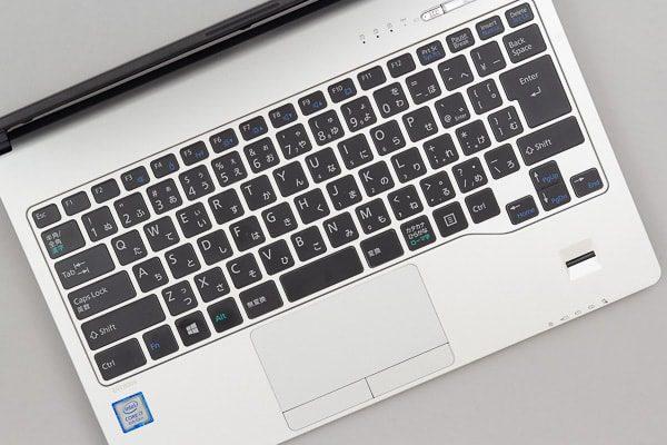 キーボード面のデザイン