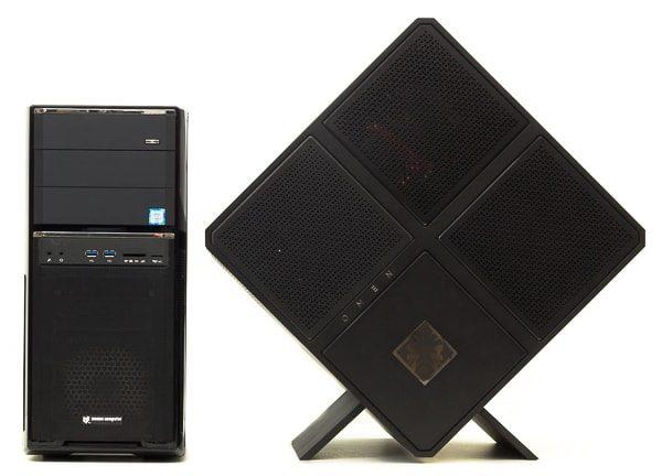 ミドルタワー型PCとのサイズ比較