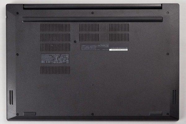 ThinkPad E580の底面部