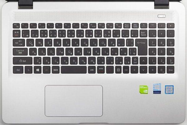 Critea VF-HEKSのキーボード