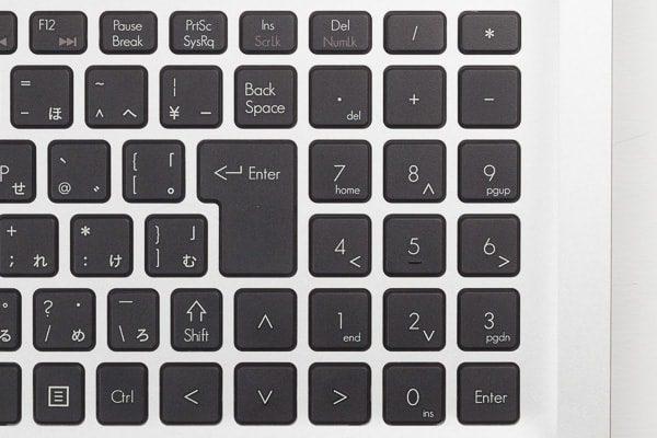 Enterキー周辺のキー配列