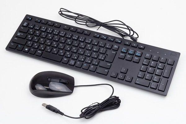 標準付属のUSBキーボードとUSBマウス