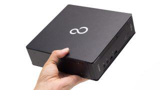 富士通 ESPRIMO WD1/C1 レビュー:手のひらサイズの極小高性能デスクトップPC